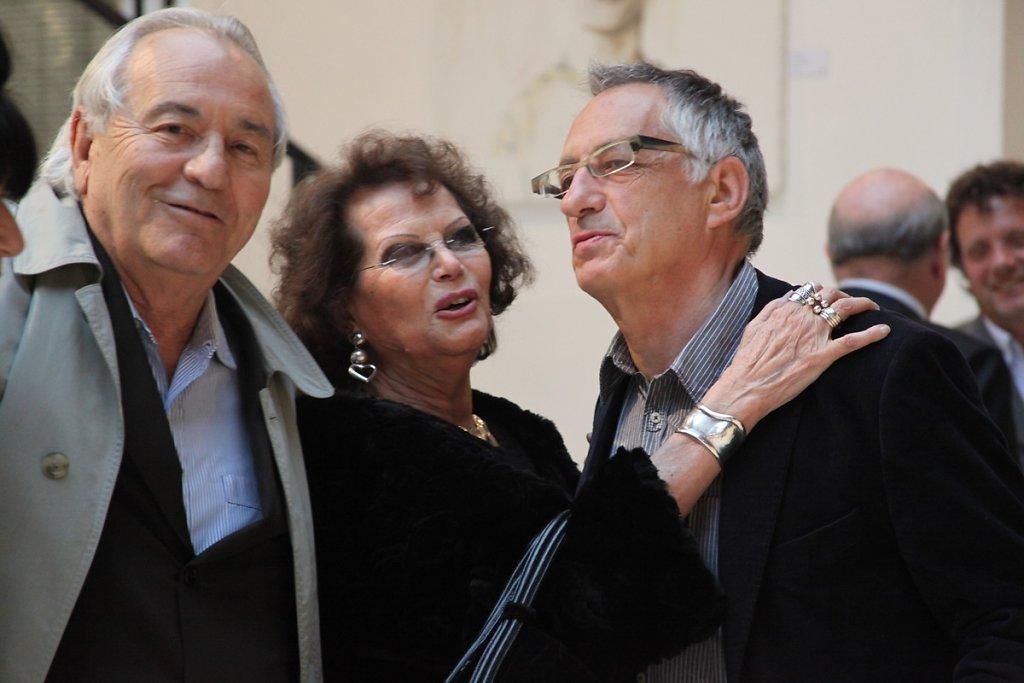 Avec Alfonso de Virgilis et Claudia Cardinale